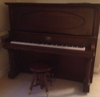 Upright Grand Piano Eilers Orchestral Vintage Made Prior to 1930