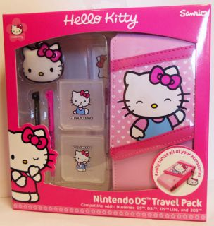 Kitty 3DS DSi DS Lite 7 in 1 Accessory Kit Travel Pack Bag Case