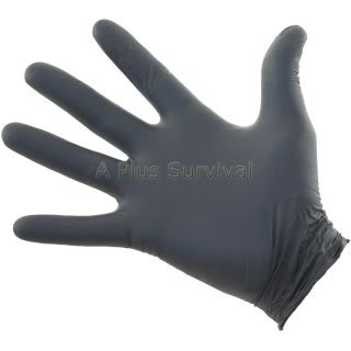 100 Black Nitrile 5 Mil Thick Safety Gloves Extra Large Size Latex