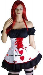 Alice in Wonderland Queen of Hearts Fancy Tutu Dress Halloween Costume