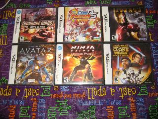 Lot of 6 DS / DSi Games   Teen Boy Games # 135 N
