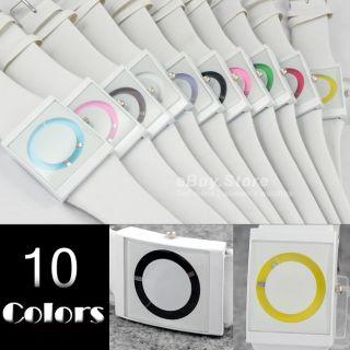 Circle Design White Quartz Wrist Watch for Men Women Girls Boys New