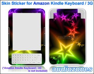 Vinyl Skin Sticker Art Decal Shining Star for  Kindle Keyboard