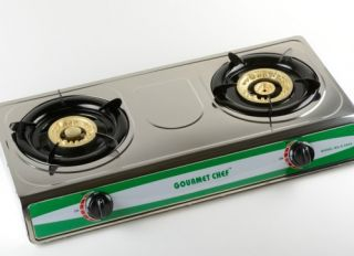 Emergency Portable Propane Gas Stove DUAL Double Burner CAMPING ATE