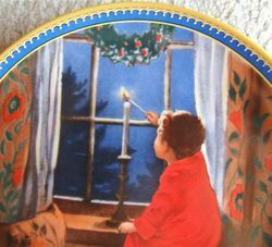 Knowles Cristmas Plate Childhood Holiday Memories by Jessie Willcox
