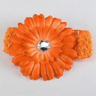 Lovely Baby Girls Crochet Headband Daisy Flower Hair Clip Free