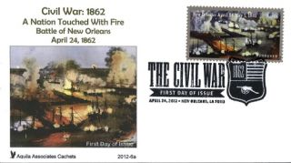 American Civil War 1862 on Two Aquila Cachets FDCs