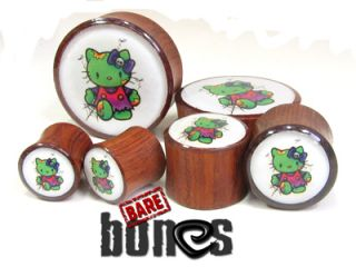 Ear Gauge 1 1 4 Blood Wood Zombie Hello Kitty Organic Plugs Gauges