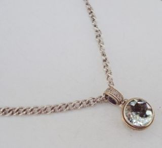 EFFY Sterling 14K Gold PRASIOLITE DIAMOND Pendant Necklace