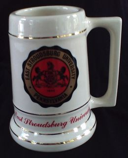 Vintage East Stroudsburg University Ceramic Beer Stein
