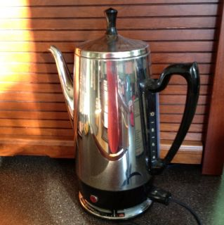 Vintage GE 10 Cup Percolator Coffee Pot Electric General Electric