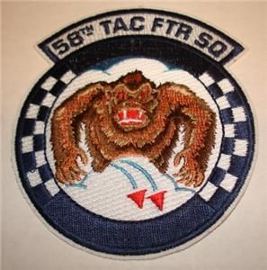 58th Tactical Fighter Squadron Patch Eglin AFB Florida