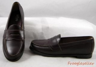 Eastland Womens Penny Loafers Shoes 9 M Brown Leather