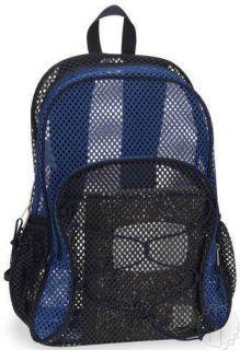 New 2012 Eastsport Mesh Bungee 17 5 Navy Indigo School Backpack Book