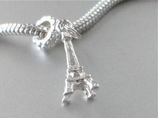 925 Sterling Silver Eiffel Tower in Paris Charm PE2 Fits All European