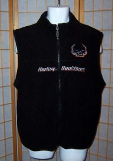 Harley Davidson L Black Central Harley Shawnee Kansas Skull Fleece