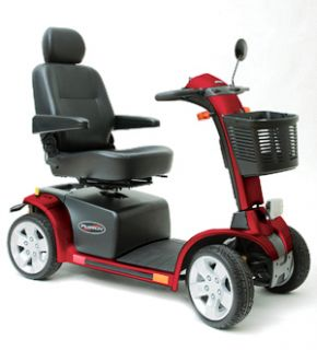 Pursuit Heavy Duty 4 Wheel Electric Scooter 400lb Red Open Box