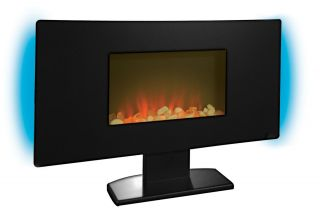 Electric Flat Panel Wall Mount Fireplace Heater