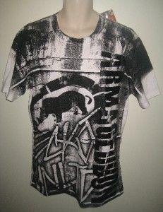 MMA by Ecko Unltd Burner Men T Shirt Size Large White Free US Shipping