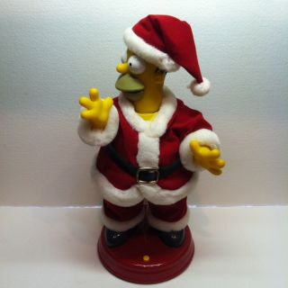 Large Talking And Dancing Santa Homer Simpson
