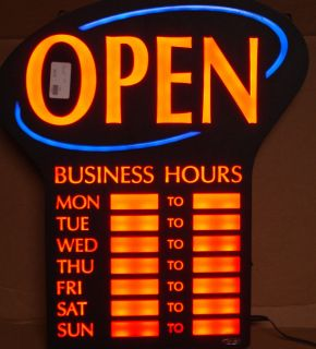 rs canada rsb 1342 led open sign with business hours lowe 39 s canada. Black Bedroom Furniture Sets. Home Design Ideas