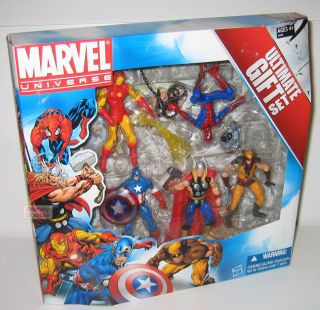 Marvel Universe 5pc Ultimate Gift Set Iron Man Spiderman MIB