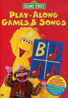 Sesame Street Play Along Games and Songs DVD New 074645129594