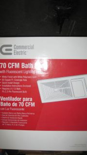 Commercial Electric 70 CFM Bathroom Exhaust Fan with Light