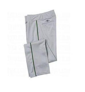 Easton Quantum Plus Baseball Pants Adult Medium Grey Green Piping