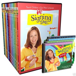 Signing Time DVDs Set 1 13 ASL Sign Language for Kids