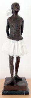 Edgar Degas Hommage Bronze Sculpture Little Dancer Ballerina Signed