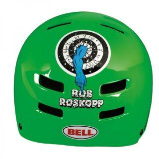 Bell Santa Cruz Roskopp Target Grn Skateboard Helmet LG