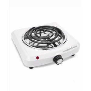 Proctor Silex Portable Electric Stove Fifth Burner Hot Plate Heater