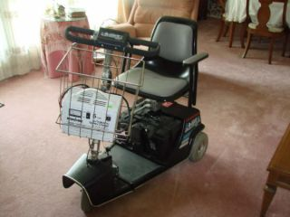 Invacare Dart three wheel electric scooter wheelchair with battery