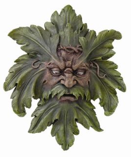 Large Forest Greenman Wall Plaque 17 H Statue Figurine Gothic