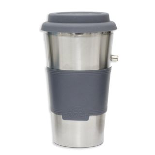 Gray Eco Power Travel Mug BPA Free With Car Travel Charger EC 7PM