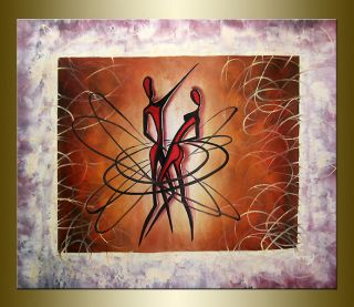 Bowang Modern Abstract hand painted oil painting bestbid_shop E682
