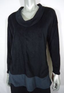 Ellen Tracy Pajama Shirt Grey Black M