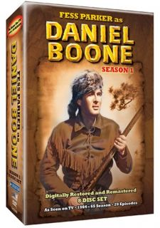 Fess Parker as Daniel Boone Seasons 1, 2 & 5 DVD Box Ses, 83 Episodes