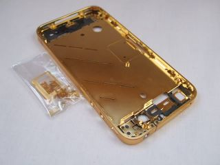 iPhone 4G Gold Bezel Mid Frame Housing Assembly Chassis + Sim ray