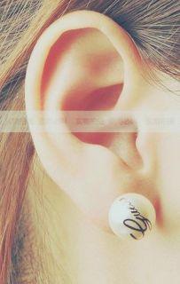 Korean Fashion Imitation Pearl Ball White Elegant Earrings