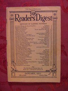 Readers Digest January 1933 Ed Wynn Robert Ripley