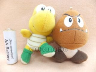 Plush Doll New Super Mario Bros Goomba Koopa Troopa Japan UFO Prize