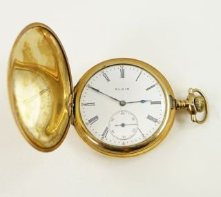 Antique Elgin Pocket Watch 17 Jewels Movement Size 12 Grade 321 Hunter