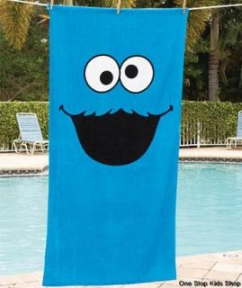 Street Bath Beach Pool Towel Boys Girls Elmo or Cookie Monster