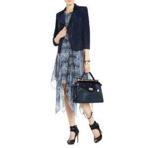 2012 $398 New BCBG Max Azria Elia Open Shoulder Silk Cocktail Dress US