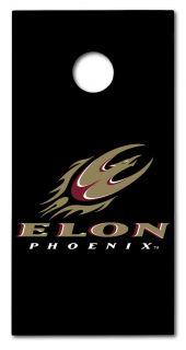 Elon University Cornhole Board Set Black 2x4 Go Phoenix Corn Hole