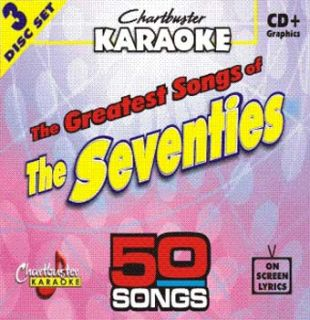 Chartbusters 3 Disc Karaoke CDG Pack 50 Songs CB5015