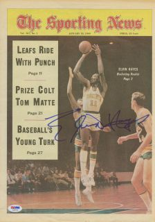 Elvin Hayes Signed 1969 The Sporting News No Label PSA DNA Autographed