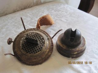 Lot of 2 Vintage Eagle kerosene oil lamp lantern burner parts